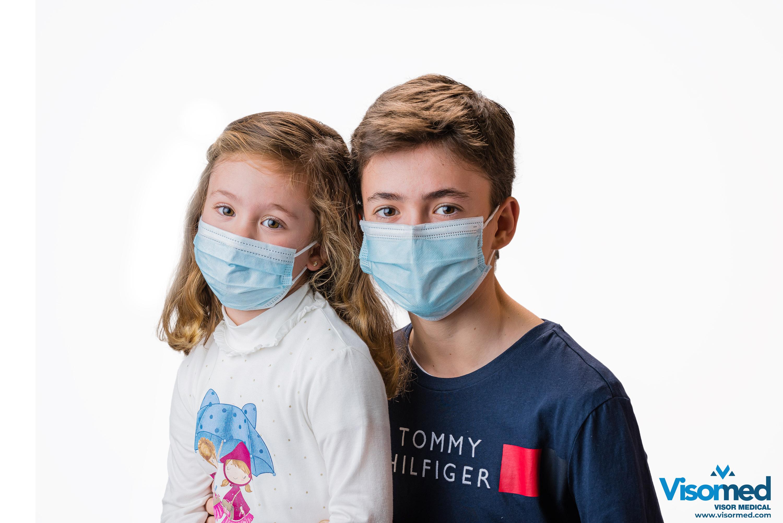 Mascarillas quirúrgicas infantiles tipo IIR color azul - 100 uds